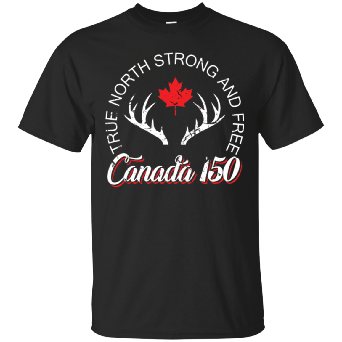 Canada 150 Years Canada 1867-2017 Flag T-Shirt
