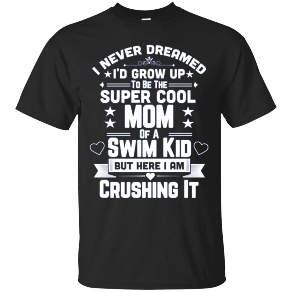 Super Cool Mom Of A Swim Kid Proud Parent Long Sleeve Shirt