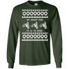 Image of Funny Ugly Christmas Sweater T-Shirt for Motorcycle Riders