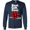 Image of Best Gift Ever June Pregnancy Reveal Christmas T Shirt