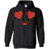 Image of Funny Emoji Shirt With Heart Eyes Big Smile T Shirt