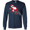 Image of Santa Motorcycle T-Shirt | Funny Christmas Bike Shirt