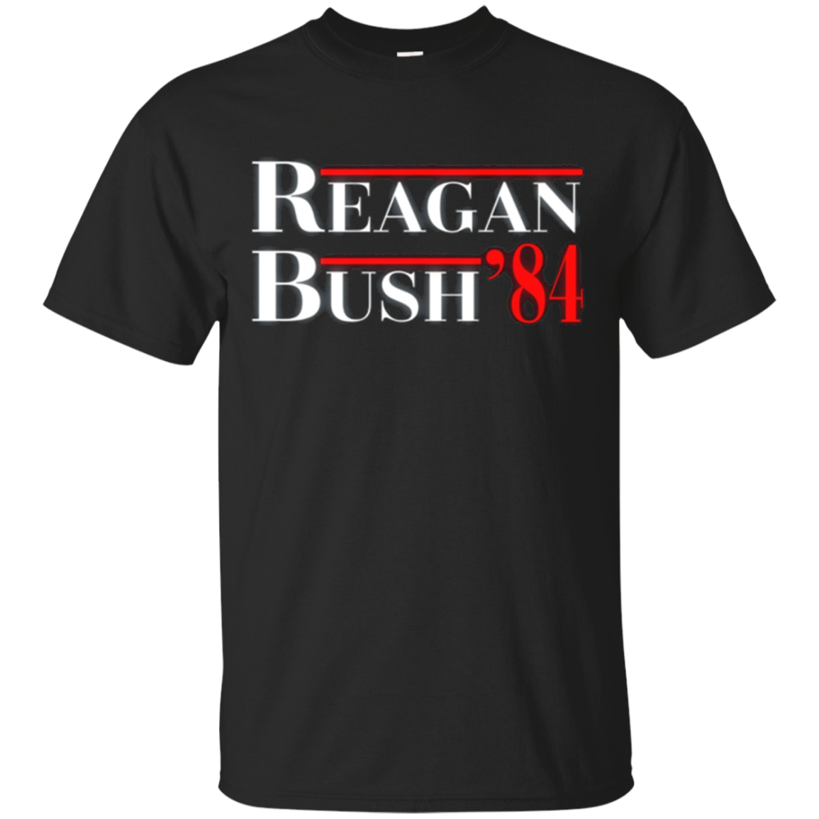 Reagan Bush 84 Ticket Conservative Politics T Shirt Right