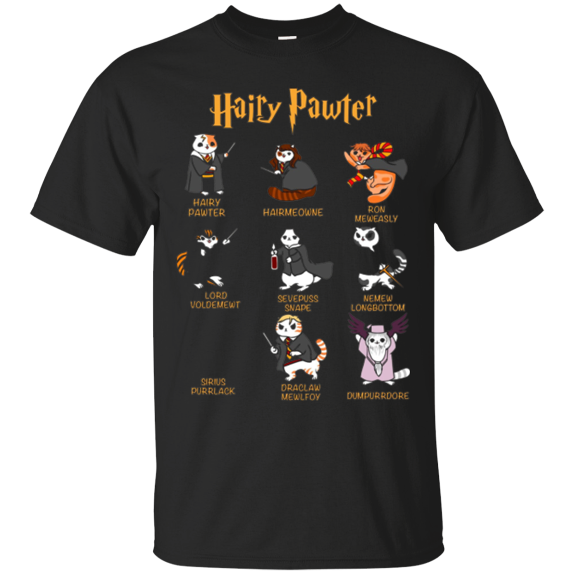 Vintage Funny Hairy Pawter T Shirt - T Shirt For Cat Lovers