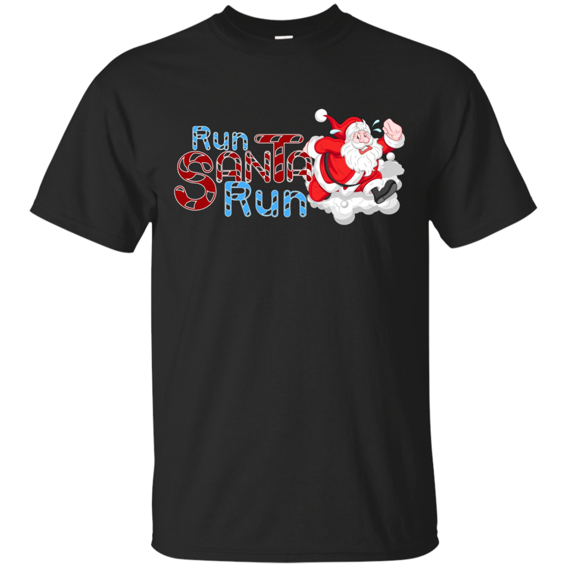 Santa Running Shirt-Funny Merry Christmas & Holiday T shirt