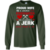 Image of Firefighter Wife Gift-Funny Fireman's Wife Long Sleeve Shirt