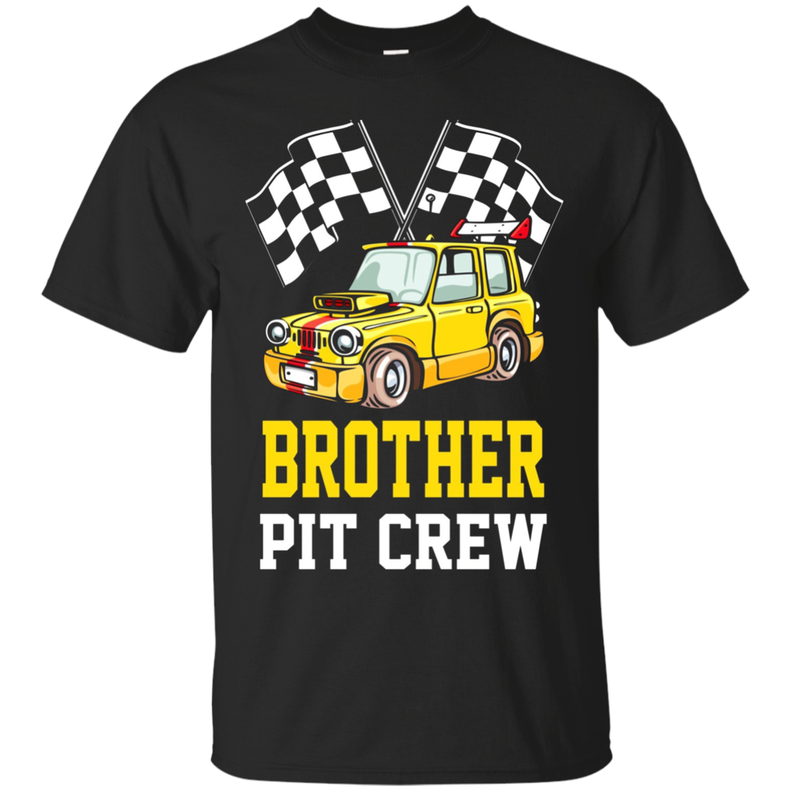 Pit Crew BROTHER Back Print Long Sleeve T-Shirt Racecar Gift