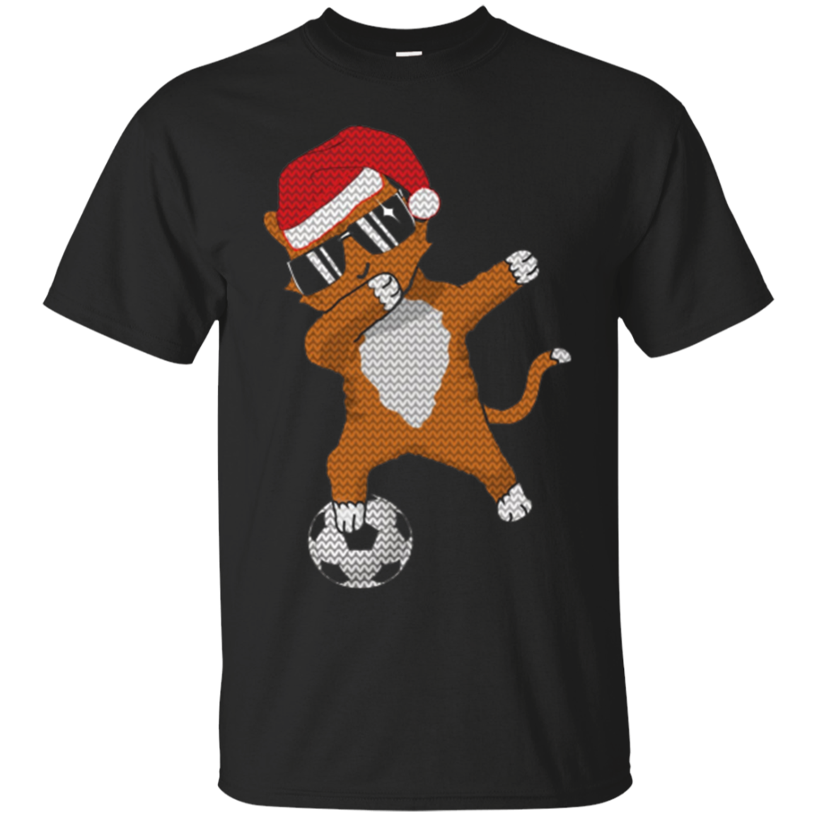 Dabbing Cat Soccer Christmas Ugly Sweater T Shirt