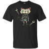 Image of Sugar Skull Cat Mexican Folk Art Dia De Los Muertos T-Shirt