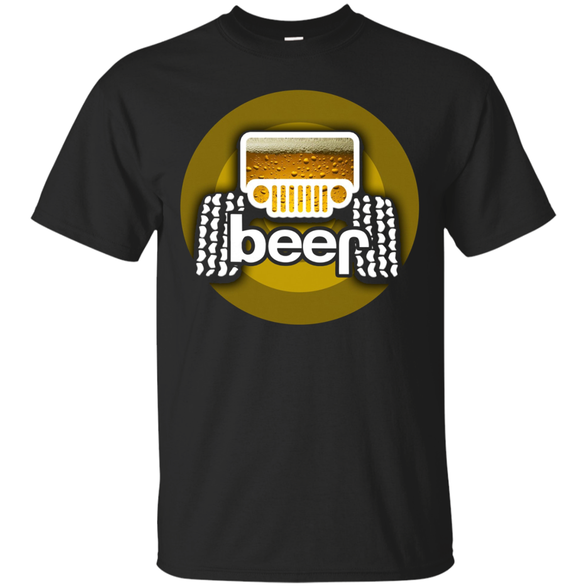 Jeep Beer Funny T-Shirt Cool Adult Alcohol Drinking Gift