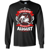 Image of Birthday Gift For Men Born In August Leo Zodiac Tshirt