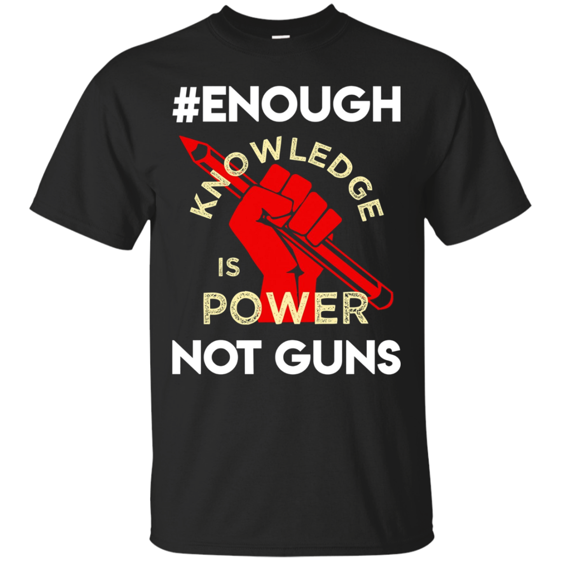 ENOUGH Long Sleeve T-Shirt Resist Anti Gun Student Teacher