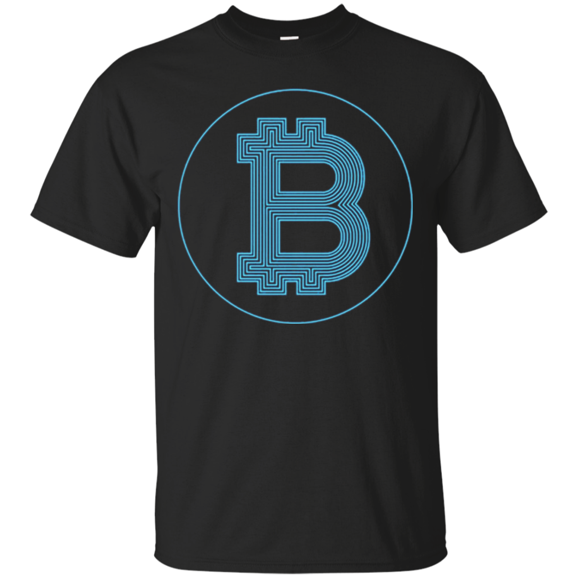 Bitcoin Logo T Shirt Long Sleeve funny for BTC Miner Traders