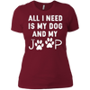 Image of All I need is my dog and my jeep funny dog lover Tee Shirt