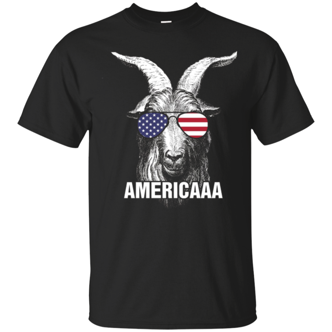 4th of July Funny T-Shirt Patriotic Shirt Sunglasses Goat
