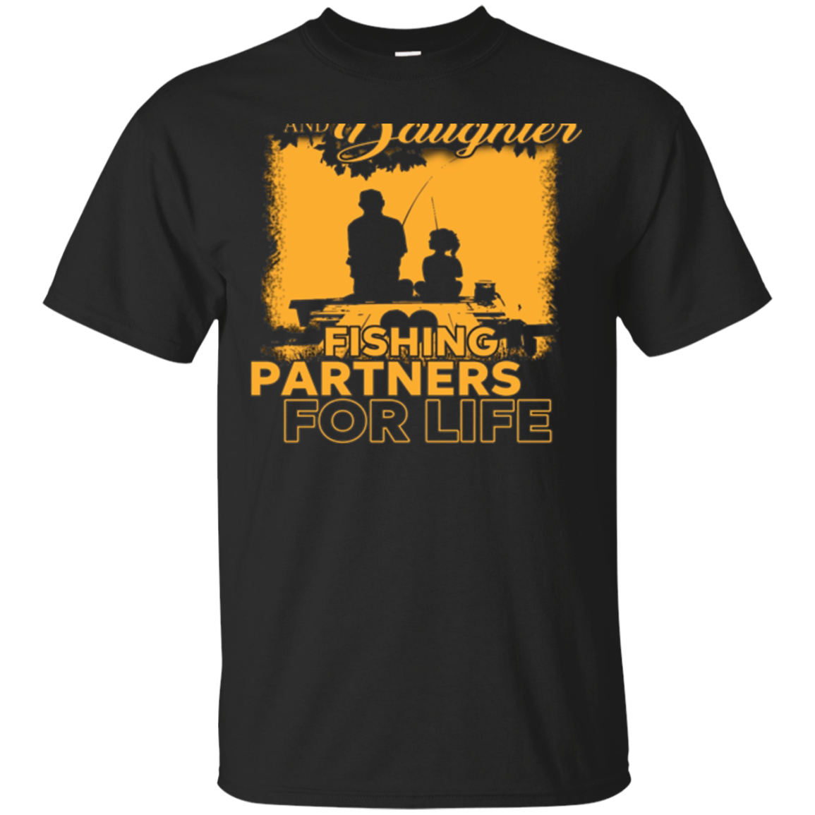 Father and daughter go fishingTshirt