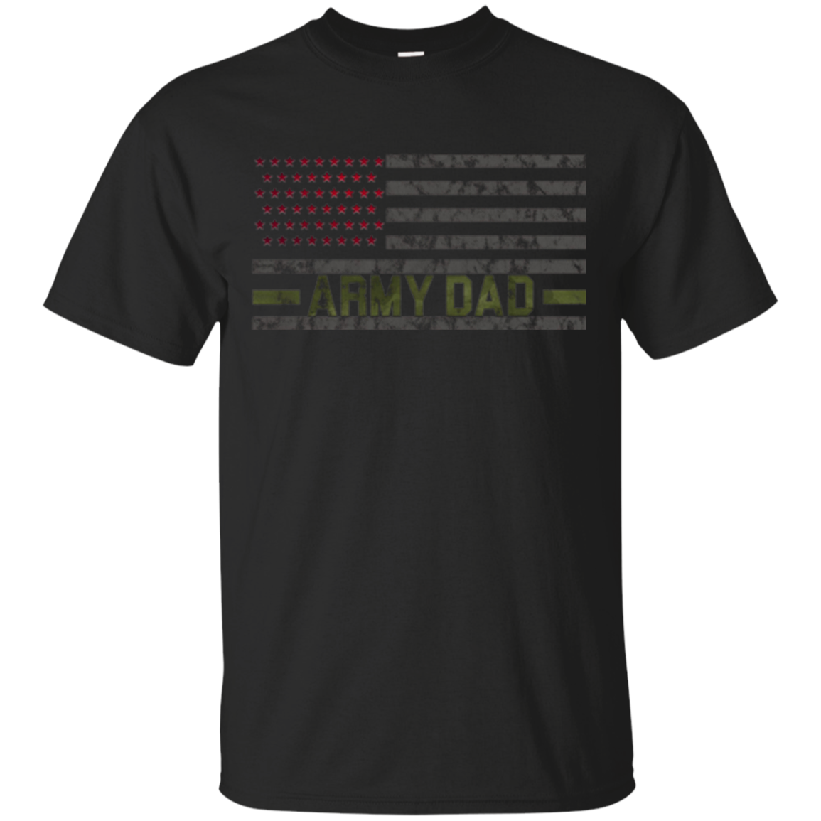 USA US Flag Proud Army Dad T-Shirt Daddy Military Freedom