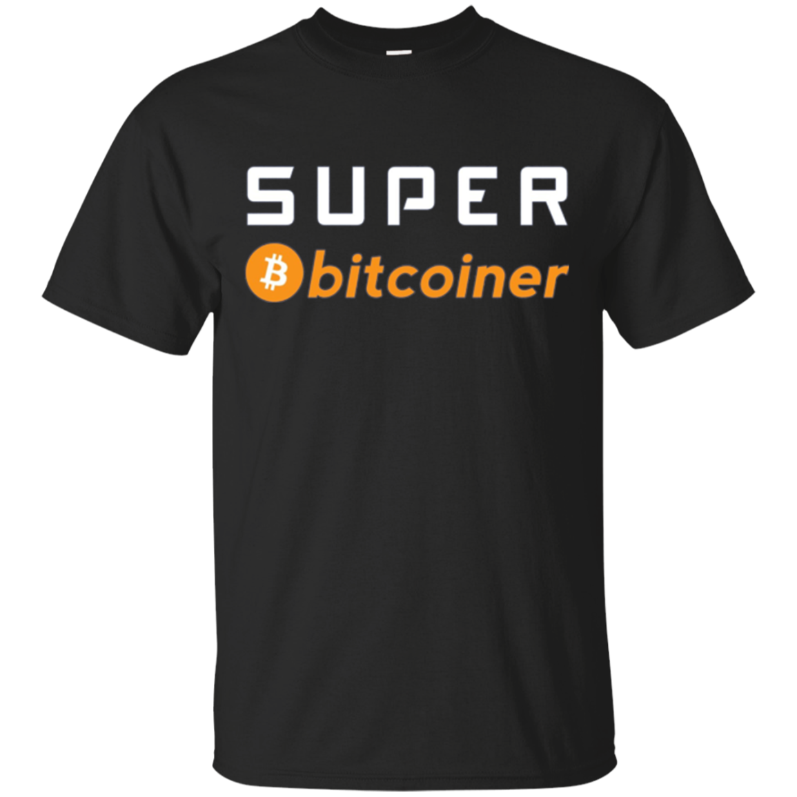 SUPER BITCOINER Bitcoin T shirt Long Sleeve funny for Miner