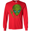 Image of Alien Peace Cool Funny T-Shirt Cute UFO Lover Birthday Gift