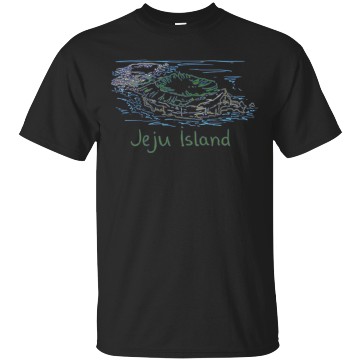 Jeju Island Panorama Long Sleeve Shirt T-Shirt