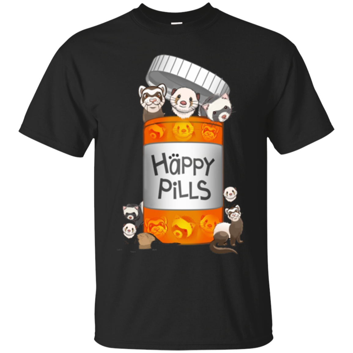 Ferret Happy Pills T-shirt