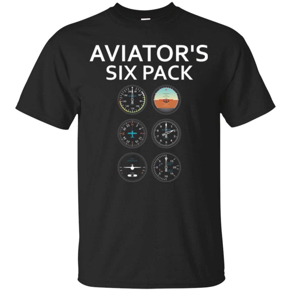 Aviator's SIx Pack - Funny Aviation T-Shirt