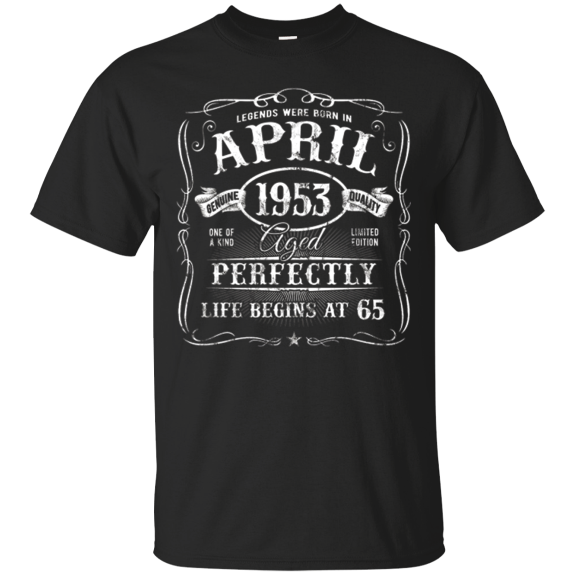 Legends Were Born In April 1953 Vintage 65th Birthday Shirt