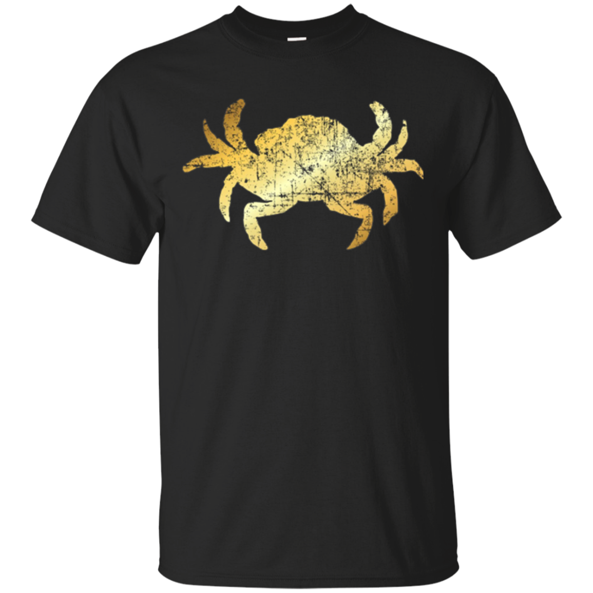 Crab Shirt for Seafood Lovers (Vintage Gold)