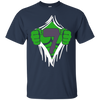 Image of Green Man Chest Superhero Birthday Shirt For 7 Year Old Boys