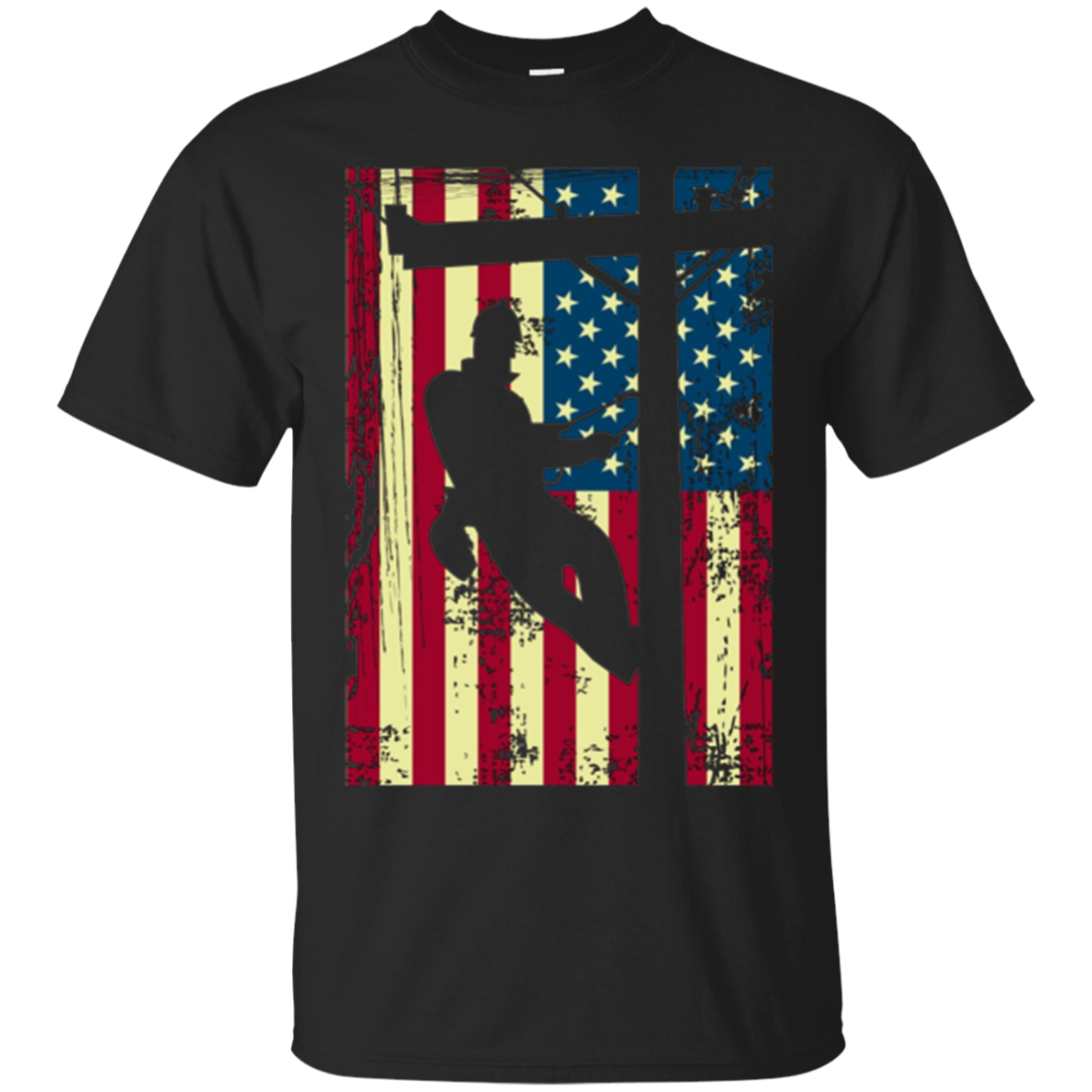 Lineman American Flag Shirt | Electric Cable Lineman Gift