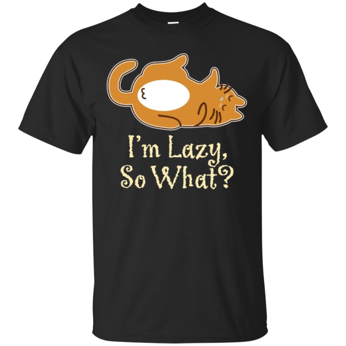 Lazy Cat Funny Tee Gift for Cat Lovers