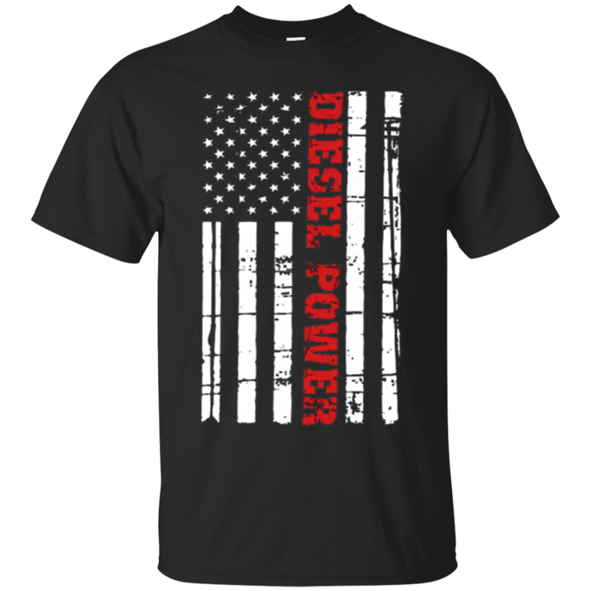 Diesel Power Flag T-Shirt Truck Turbo Brothers Mechanic
