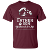 Image of Mens Father Son Friends Fist Bump TShirt Dad Father's Day Family