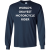 Image of World's Okayest Motorcycle Rider Funny Biker T-Shirt