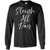 Image of Sleigh All Day Shirt Fun Cute Christmas Pun Sledding Tee
