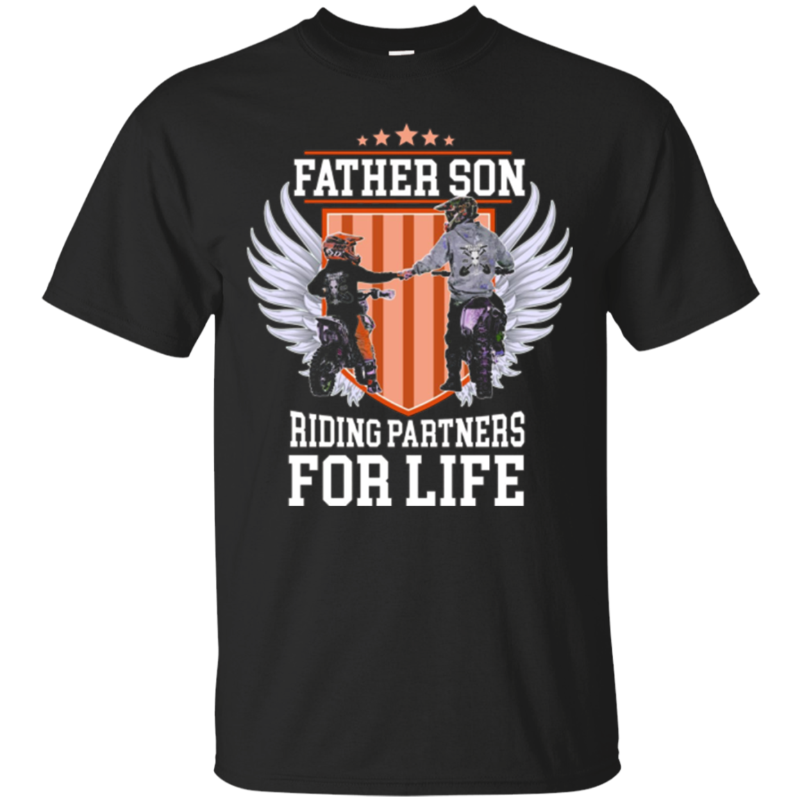 Motocross Tees -Father Son Riding Partners For Life T-Shirt