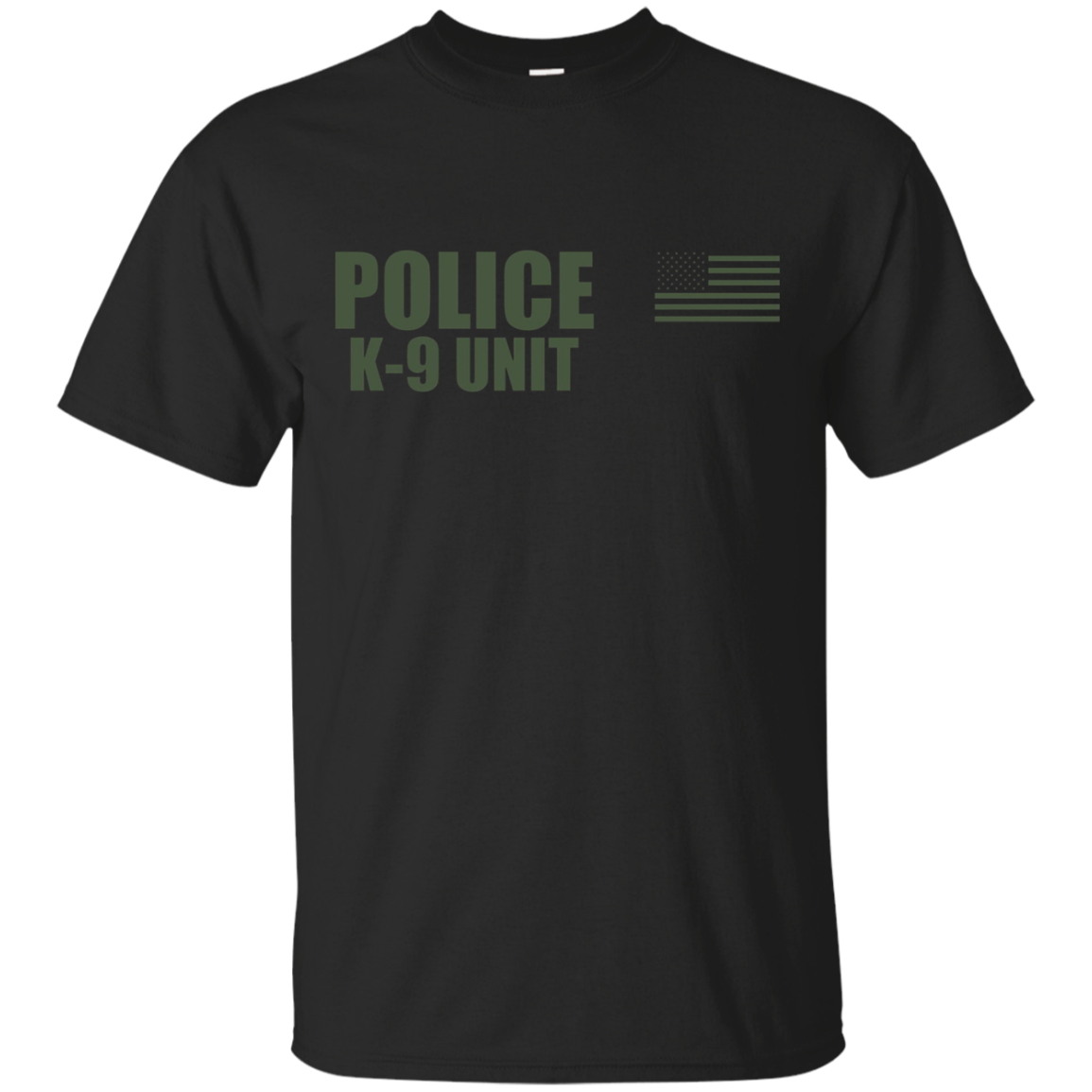 Police K-9 Unit On Duty Uniform T-Shirt