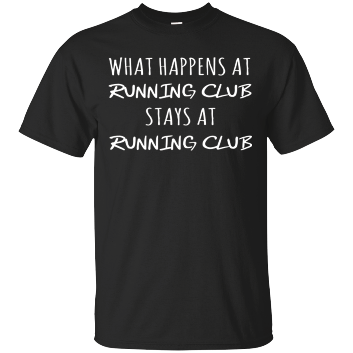 What Happens at Running Club Shirt Funny Runners Tee