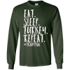 Image of Eat Sleep Turkey Repeat Funny Thanksgiving Pie Shirt
