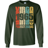 Image of Vintage Virgo 1965 T-Shirt 52 yrs old Bday 52nd Birthday Tee