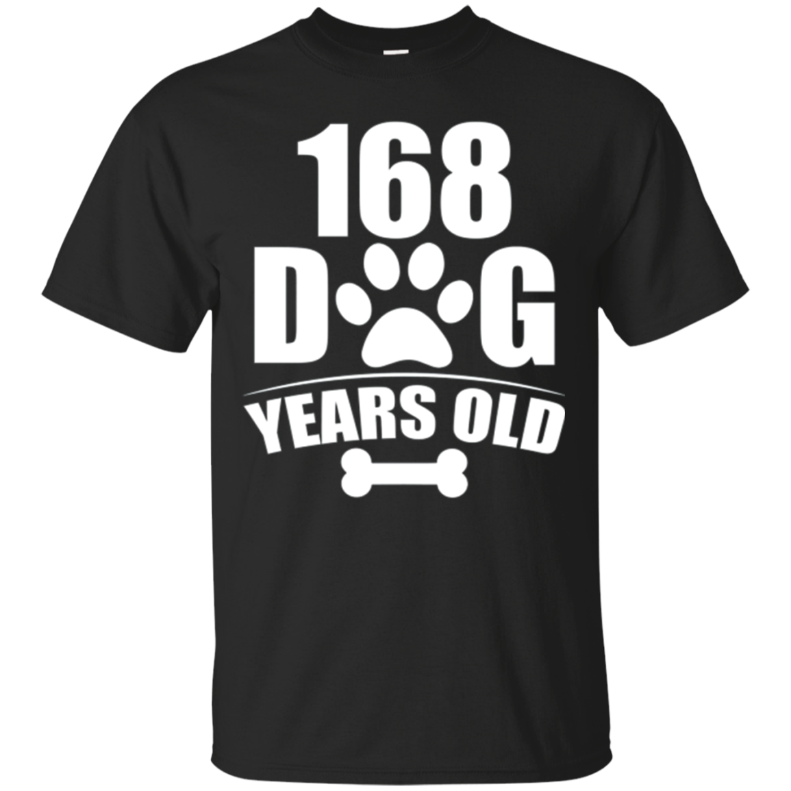 168 Dog Years Old Happy 24th Birthday Dog T-Shirt