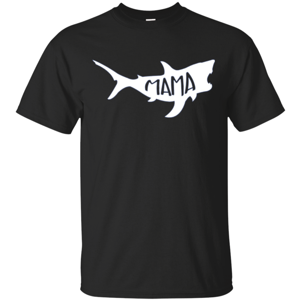 "Family T-Shirt ""Mama"" Shark Matching"