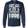 Image of Vintage Born in 1996 21st Birthday Gifts 21 This Guy Awesome