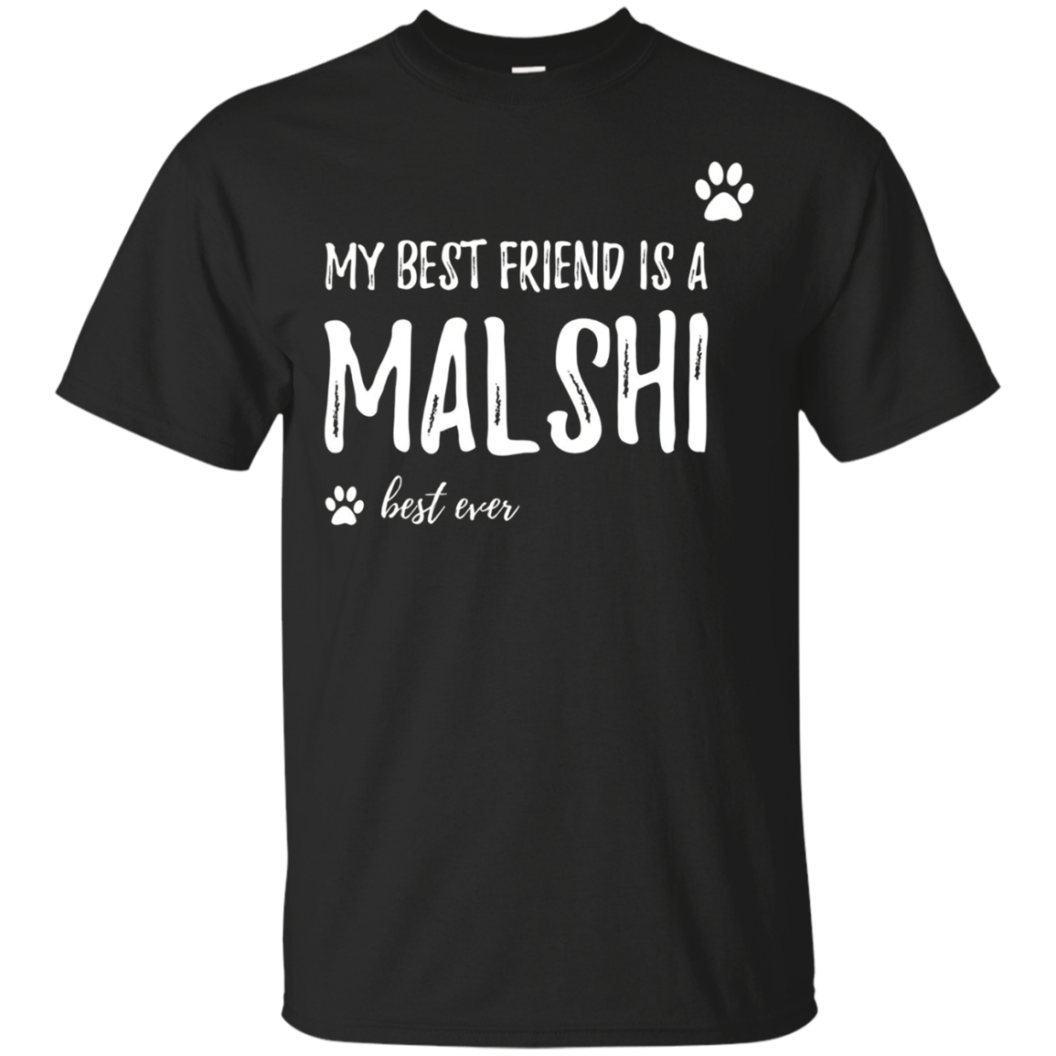 My Best Friend Is A Malshi T-Shirt Funny Dog Lovers Gift