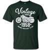 Image of 60th Birthday Vintage Retro Motorcycle 1958 Rider T-shirt