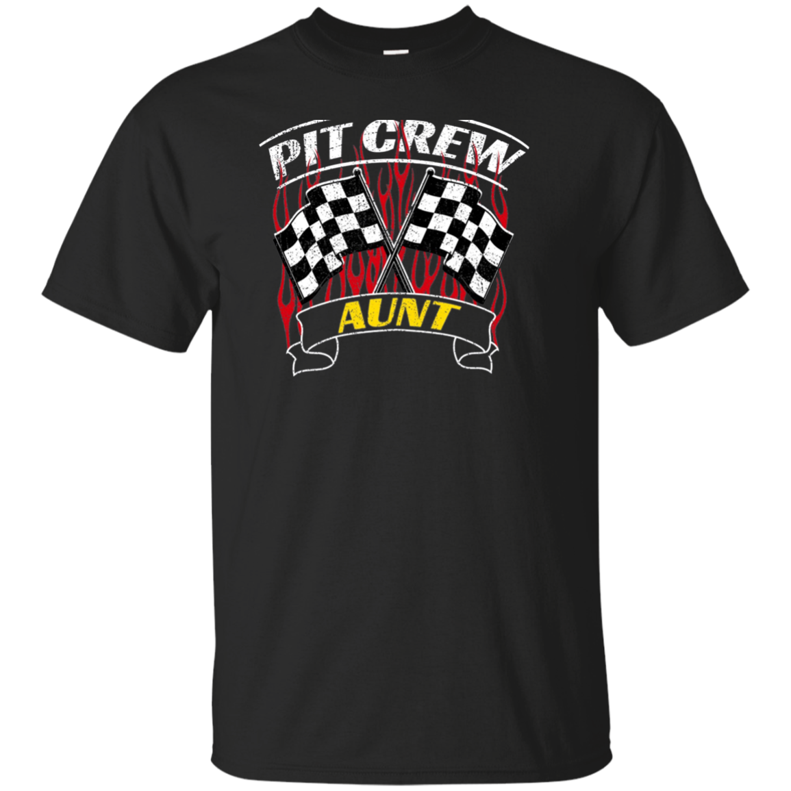 Pit Crew Aunt Back Print Long Sleeve T-Shirt Formula Racing