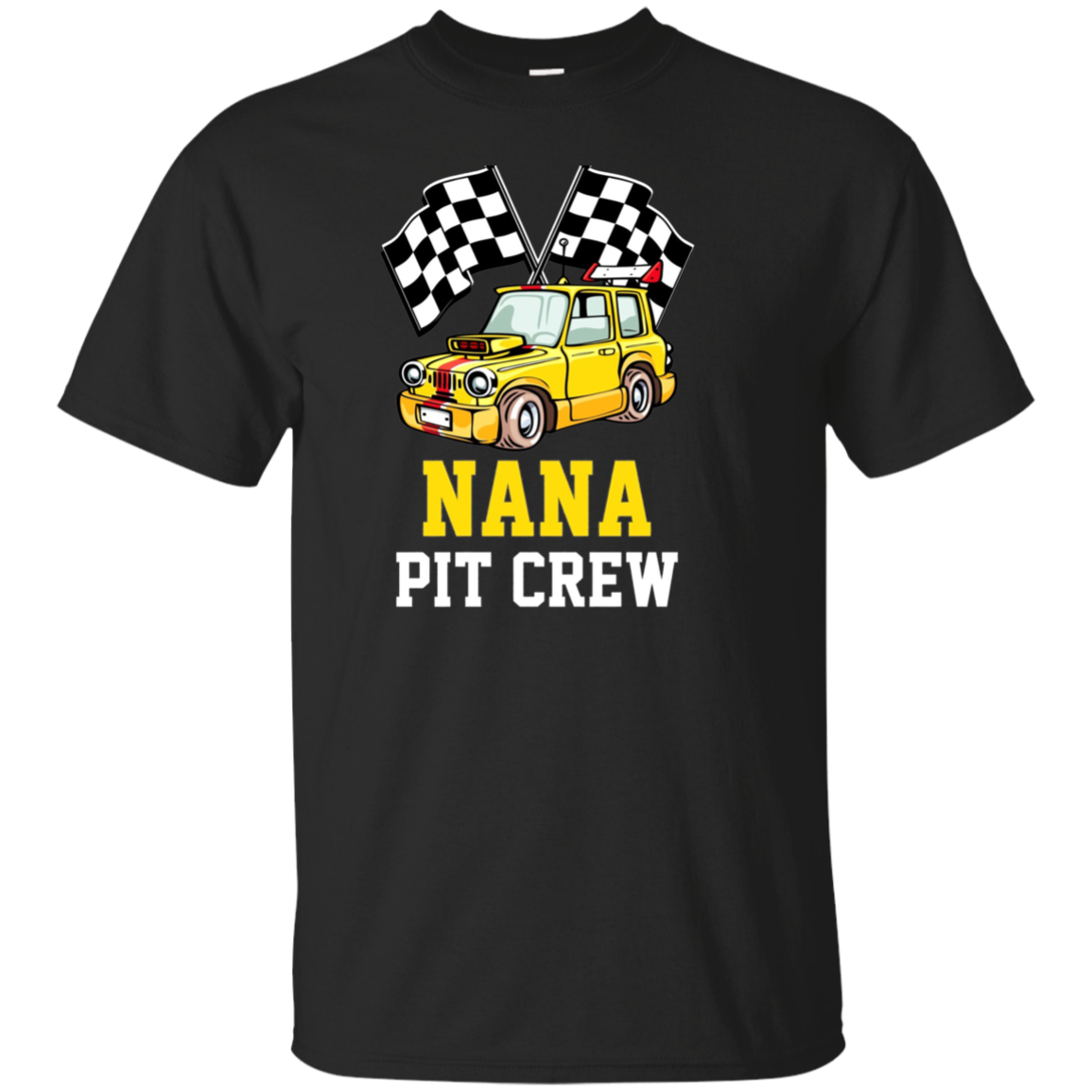 Pit Crew NANA Back Print Long Sleeve T-Shirt Race Car