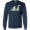 Image of Bigfoot Sasquatch Riding The Loch Ness Monster Funny T-Shirt