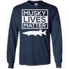 Image of Musky Lives Matter Muskellunge Musky Fishing Funny T-Shirt