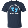 Image of Promoted To Uncle It's A Boy T-shirt Newborn Nephew Baby